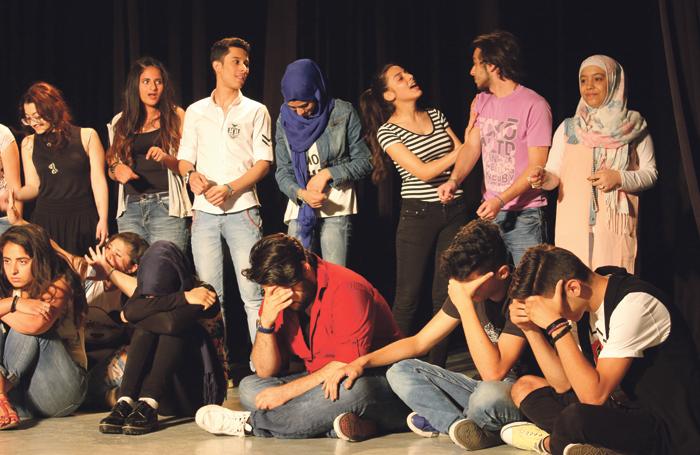 Maya Zbib's Zoukak collective conducting drama therapy sessions in Beirut. Photo: Zoukak