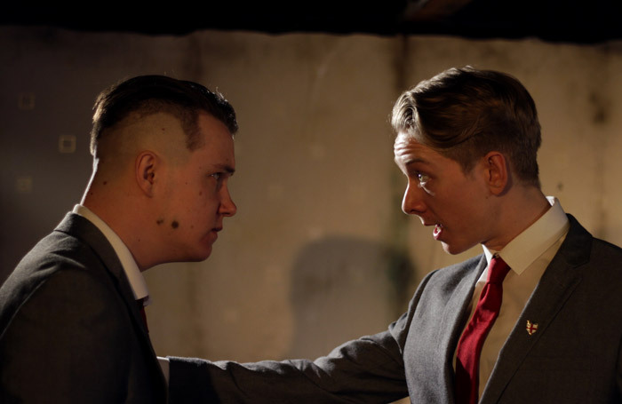 Joshua Dolphin and James Downie in Moonfleece at the Pleasance Theatre, London. Photo: Gregory Birks
