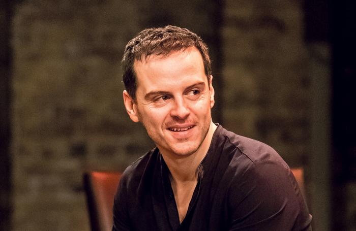 Andrew Scott as Hamlet in the Almeida production. Credit: Manuel Harlan