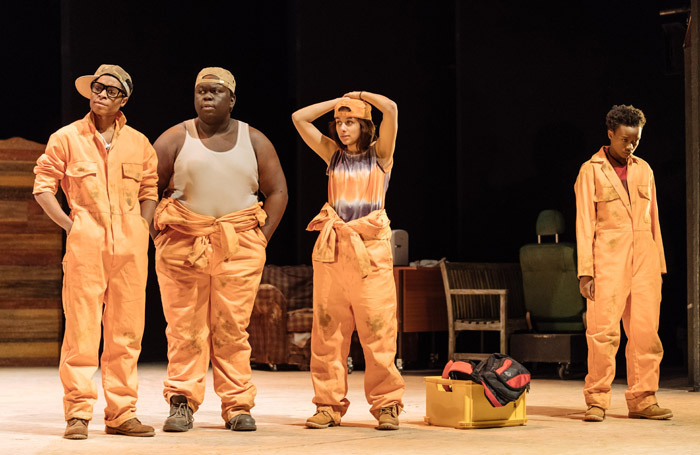 The cast of Holes at Nottingham Playhouse