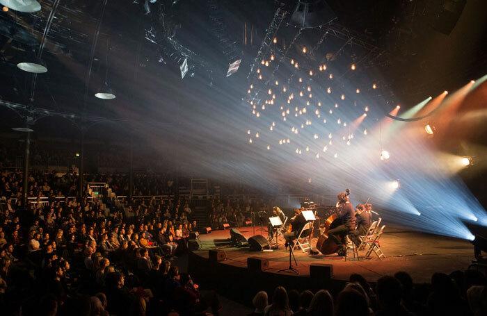 Music performance at London's Roundhouse. Photo: John Williams