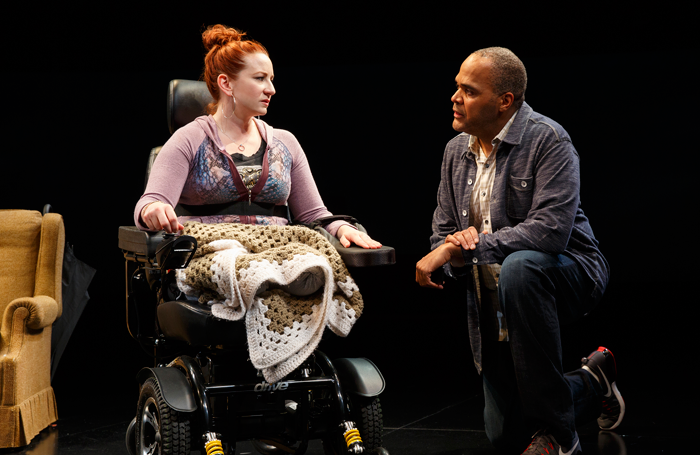 Katy Sullivan and Victor Williams in The Cost of Living. Photo: Joan Marcus