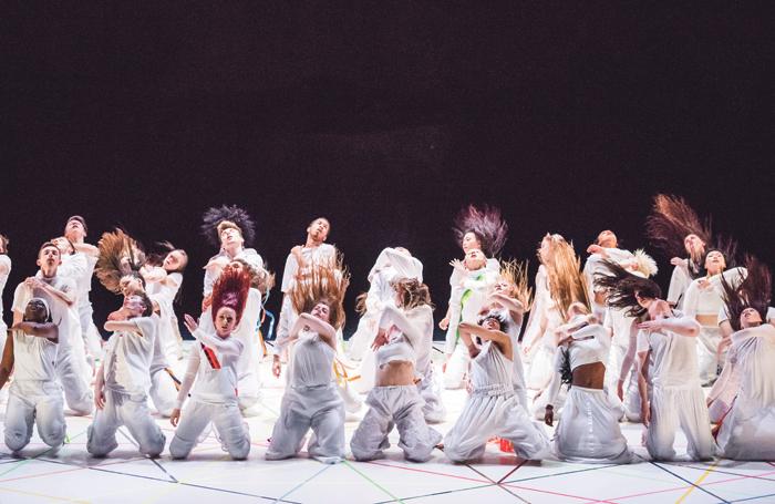 National Youth Dance Company in Tarantiseismic at Maison de la Danse. Photo: Tony Nandi