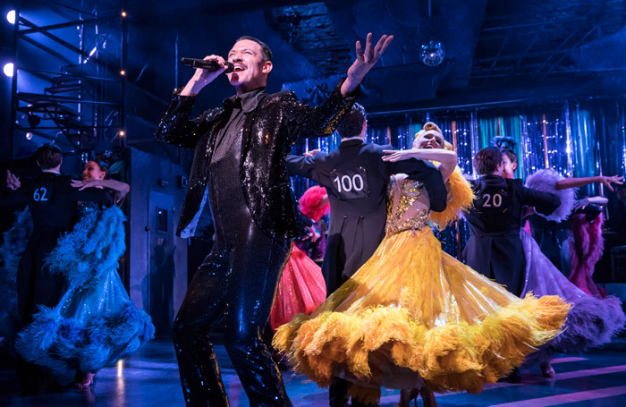Will Young and the cast of  Strictly Ballroom at Piccadilly Theatre, London. Photo: Johan Persson