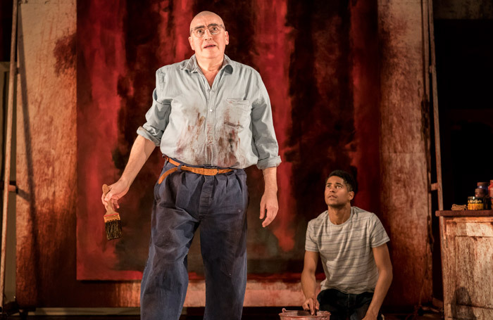 Alfred Molina and Alfred Enoch in Red at Wyndham's Theatre, London. Photo:  Johan Persson