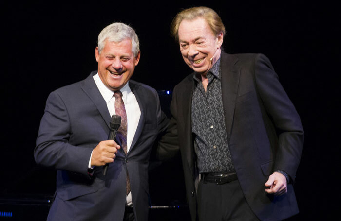 Cameron Mackintosh and Andrew Lloyd Webber at The Phantom of the Opera 30th anniversary.  Photo: Dan Wooller