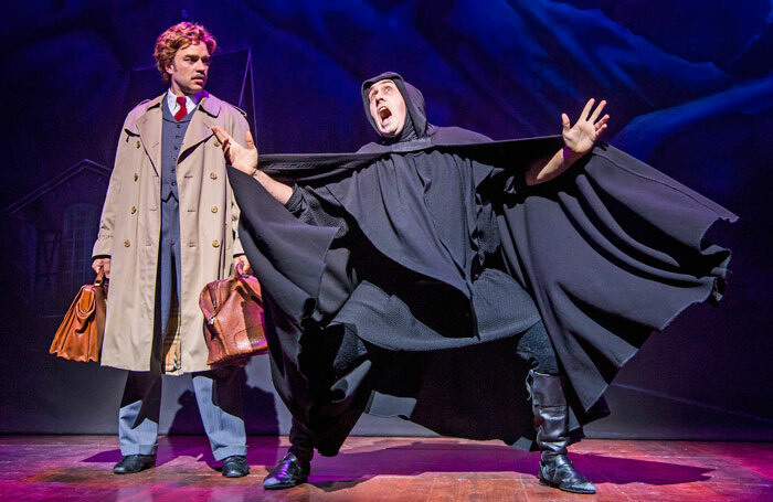 Hadley Fraser and Ross Noble in Young Frankenstein by Mel Brooks at the Garrick Theatre. Photo: Tristram Kenton