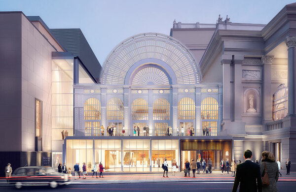 Royal Opera House teases new look as multimillion-pound revamp nears completion