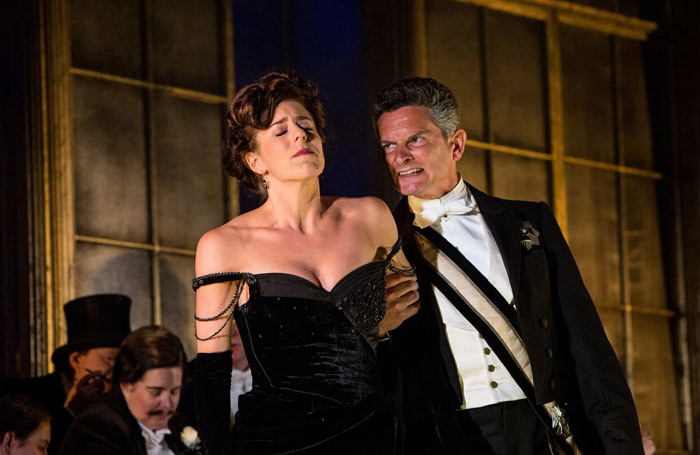 Lauren Fagan and  Nicholas  Garrett in La  Traviata at Opera Holland  Park. Photo: Ali  Wright