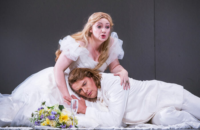 Jennifer Davis and Klaus Florian Vogt in Lohengrin at the Royal Opera House, London. Photo: Tristram Kenton