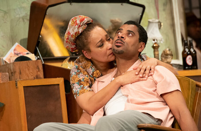 Martina Laird and Karl Collins in Shebeen at Nottingham Playhouse. Photo: Richard Hubert Smith