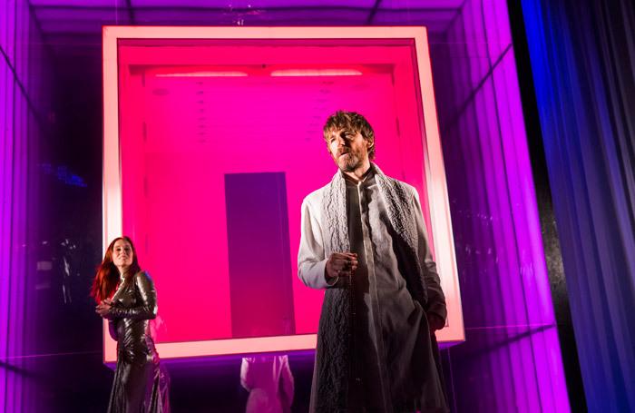 Audrey Fleurot and Paul Anderson in Tartuffe at Theatre Royal Haymarket. Photo: Tristram Kenton