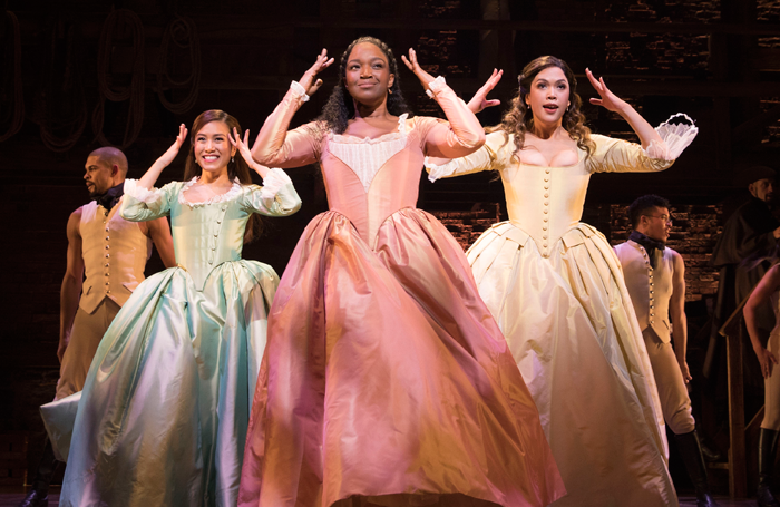 Rachelle Ann Go, Rachel John and Christine Allado in Hamilton. Photo: Matthew Murphy