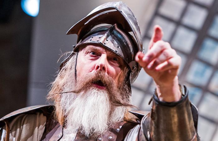 David Threlfall (Don Quixote) in Don Quixote at the Swan Theatre, Stratford. Photo: Tristram Kenton