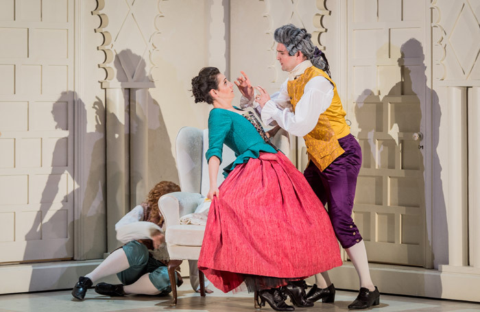 Aoife Miskelly and James Newby in Le Nozze di Figaro at Nevill Holt Opera. Photo: Robert Workman