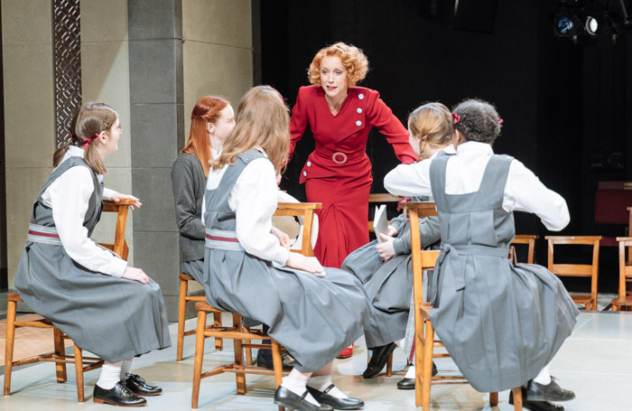 Lia Williams and the cast of The Prime of Miss Jean Brodie at the Donmar Warehouse, London. Photo: Manuel Harlan
