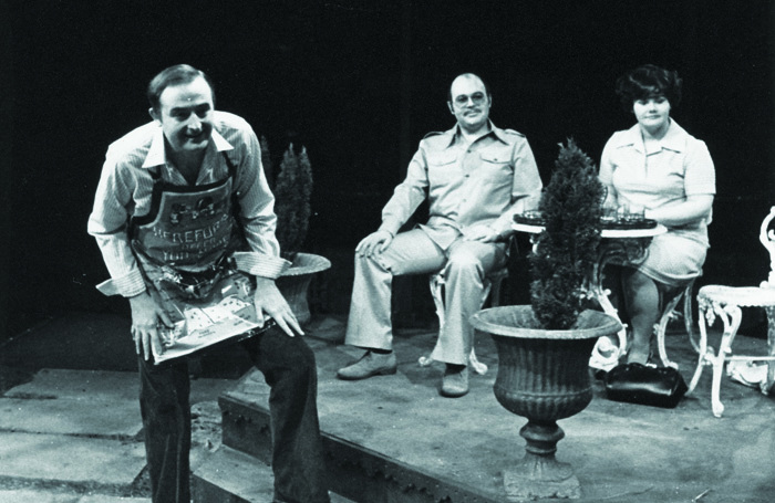 The original production of Joking Apart with John Arthur, Robert Austin and Annette Badland