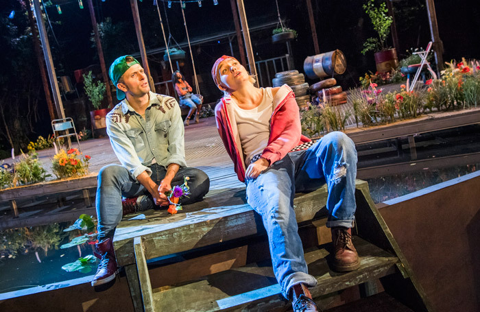 Edward Hogg and Olivia Vinall in As You Like It at Regent's Park Open Air Theatre, London. Photo: Tristram Kenton