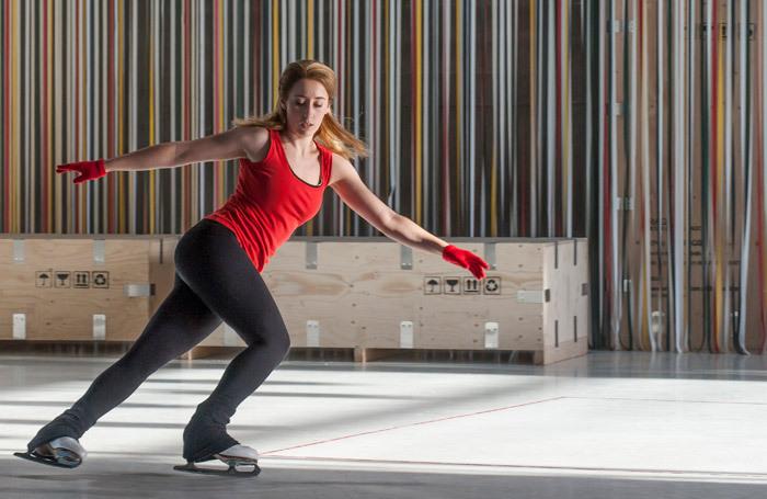 Alice Poggio in The Skating Rink at Garsington Opera. Photo: John Snelling