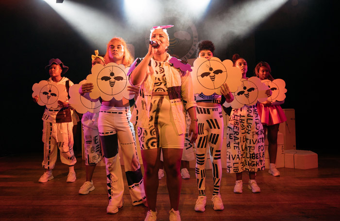 The cast of Hive City Legacy at Roundhouse, London. Photo: Helen Murray