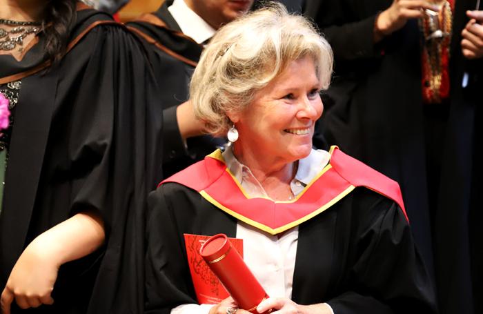 Imelda Staunton receives Honorary Membership of the Royal Academy of Music. Photo: Roni Sidhu