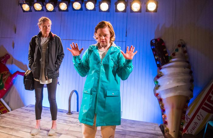 Penny Layden and Sarah Gordy in Jellyfish at Bush Theatre, London. Photo: Tristram Kenton