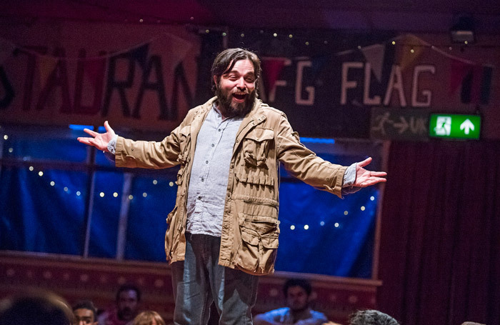 Ammar Haj Ahmad in The Jungle at Playhouse Theatre. Photo: Tristram Kenton