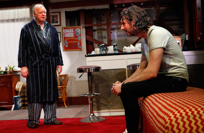 Les Dennis and Blake Harrison in End of the Pier at Park Theatre, London. Photo: Simon Annand