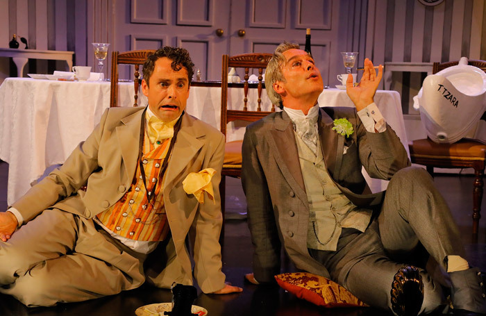 Graham Mckay Bruce and Mark Elstob in Travesties at Pitlochry Festival Theatre
