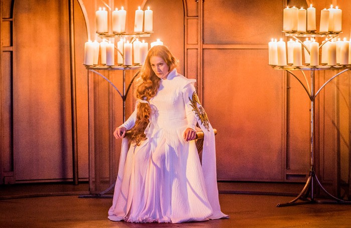 Anne Sophie Duprels in Isabeau at Opera Holland Park. Photo: Robert Workman