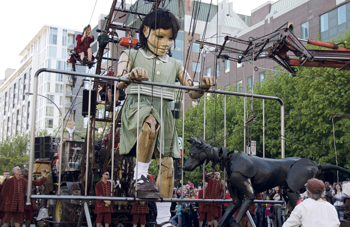Royal de Luxe's giant street puppets. Photo: Serge Koutchinsky