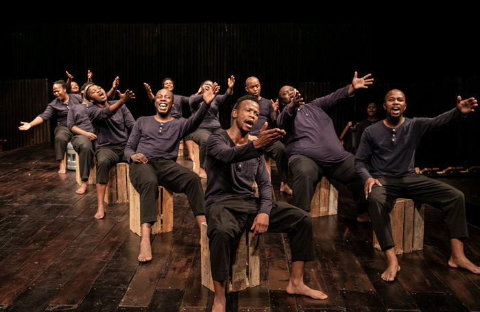 The cast of SS Mendi Dancing The Death Drill at NST City, Southampton. Photo: The Other Richard