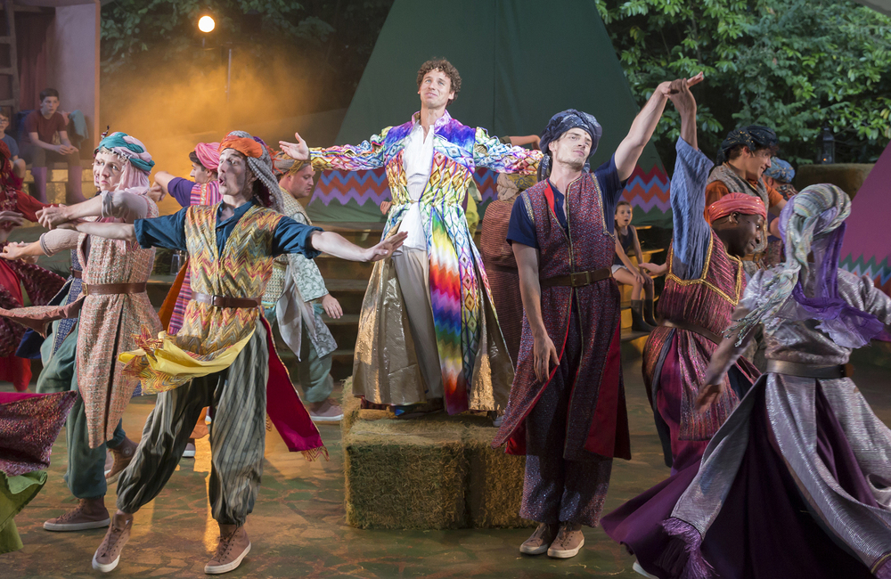 Matthew Jeans and company in Joseph and the Amazing Technicolor Dreamcoat at Kilworth House. Photo: Jems Photography