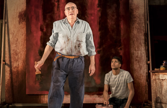 Alfred Molina and Alfred Enoch in Red. Photo: Johan Persson