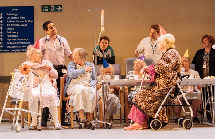 The cast of Allelujah! at Bridge Theatre, London. Photo: Manuel Harlan