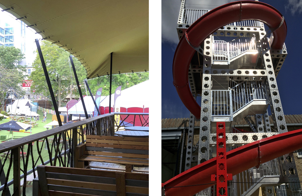 The Assembly Treetop performance venue and Sip and Slide bar
