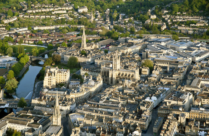 The city of Bath – Bath and North East Somerset Council is proposing a 100% cut to funding. Photo: Andrew Desmond/Shutterstock