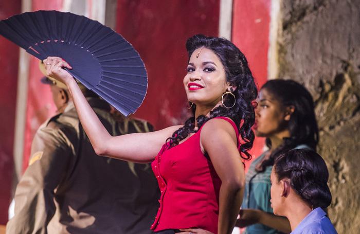 Luna Manzanares Nardo in Carmen La Cubana at Sadler's Wells. Photo: Tristram Kenton