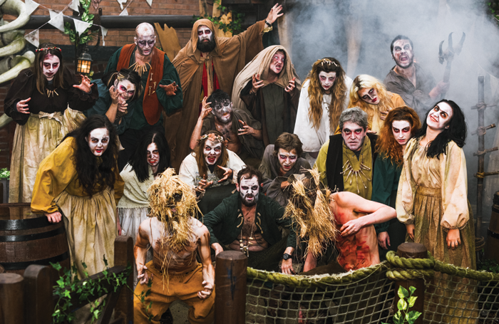 Cast of The Welcoming: Be Chosen at Alton Towers' Scarefest 2017