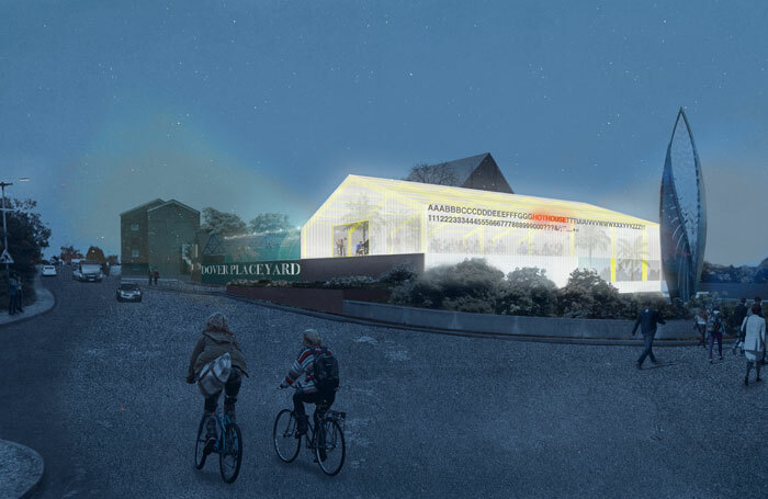 Artist's impression of Ashford's new Coachworks hub, which will include an open-air performance space
