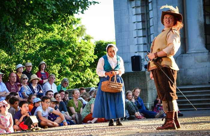 Lucy Jane Parkinson in The Three Musketeers at Williamson Park, Lancaster. Photo: Claire Griffiths