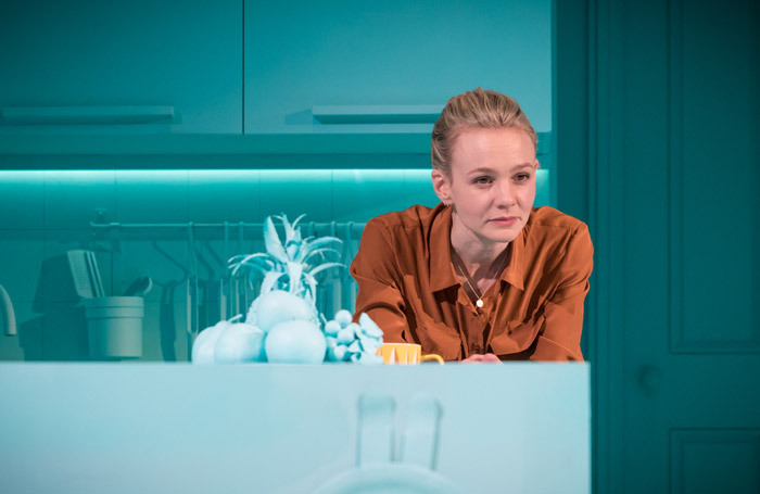 Carey Mulligan in Girls and Boys at Royal Court, London – Audible co-produced its New York transfer earlier this year. Photo: Mark Brenner