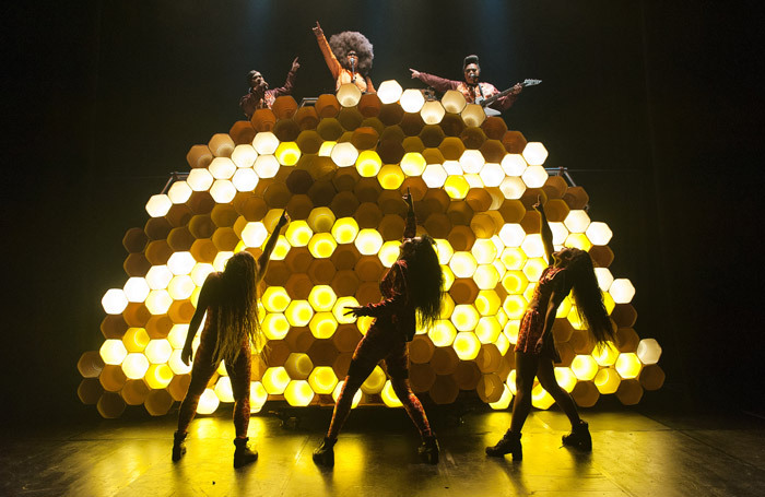 The cast of Hot Brown Honey at Southbank Centre, London. Photo: Dylan Evans