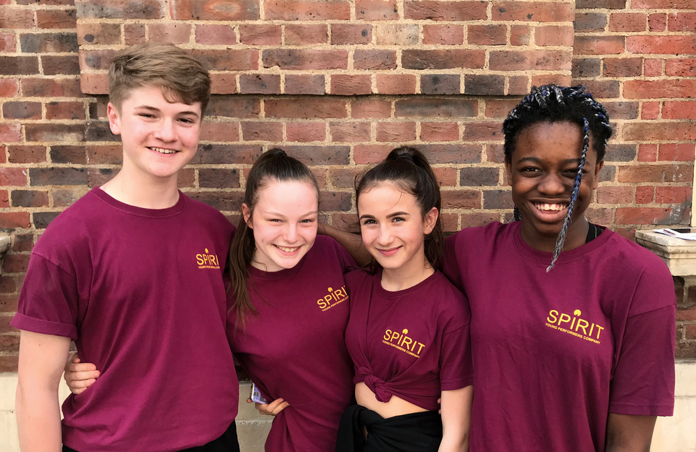 The Stage and Spirit Young Performers Company winners, from left: Billy Vale, Layla Armstrong-Hughes, Hannah Hutchins and Imaan Guthrie