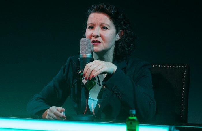 Irene Allan in Coriolanus Vanishes at Traverse Theatre, Edinburgh. Photo: Sid Scott