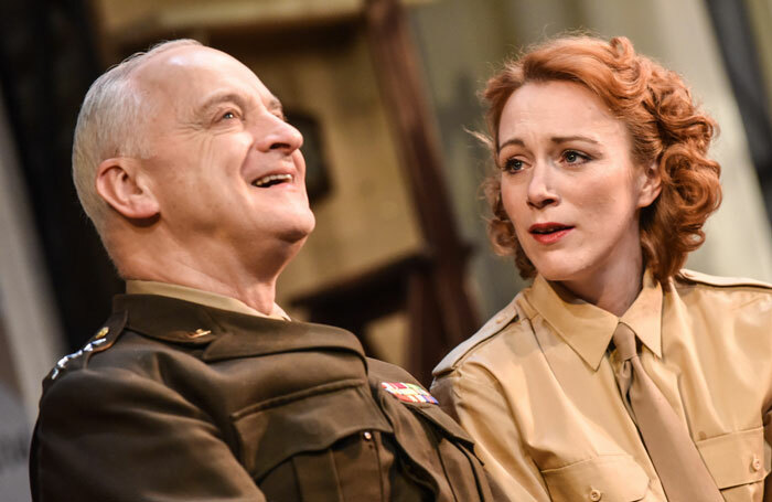 Malcolm Sinclair with Laura Rogers in Pressure. Photo: Robert Day
