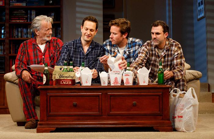 Stephen Payne, Josh Charles, Armie Hammer andPaul Schneider in Straight White Men at the Helen Hayes Theater, New York. Photo: Joan Marcus