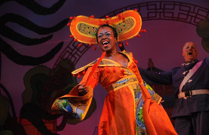 Tameka Empson in Aladdin at Hackney Empire in 2009
