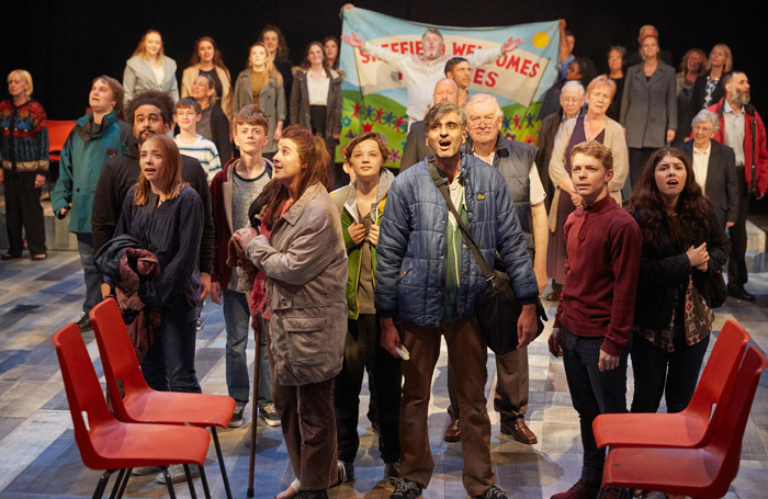 The company of Songs from the Seven Hills at Crucible Theatre, Sheffield. Photo: Mark Douet