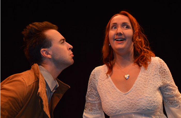 Robert Madge and Sabrina Messer in Timpson: The Musical at C Venues, Edinburgh